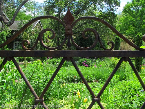 More ironwork in the Cottage Garden in the Willowwood Arboretum, Morris County, New Jersey