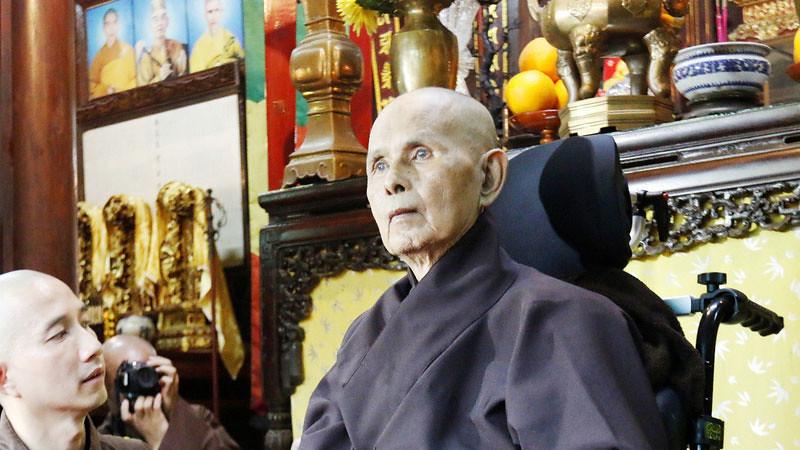 Y.M. Thich Nhat Hanh, di Vihara Tu Hieu, Vietnam, 28 Oktober 2018.
