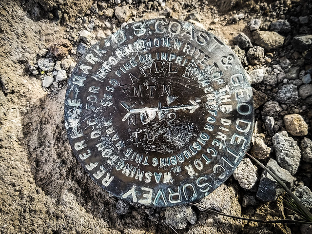 Saddle Mountain Geodetic Marker 2