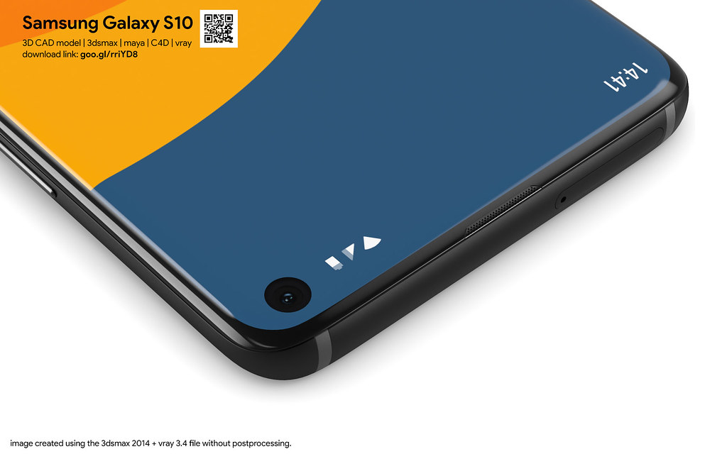Samsung Galaxy S10 - 3D models set