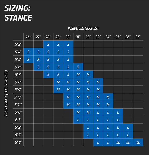 Giant Stance Size Chart