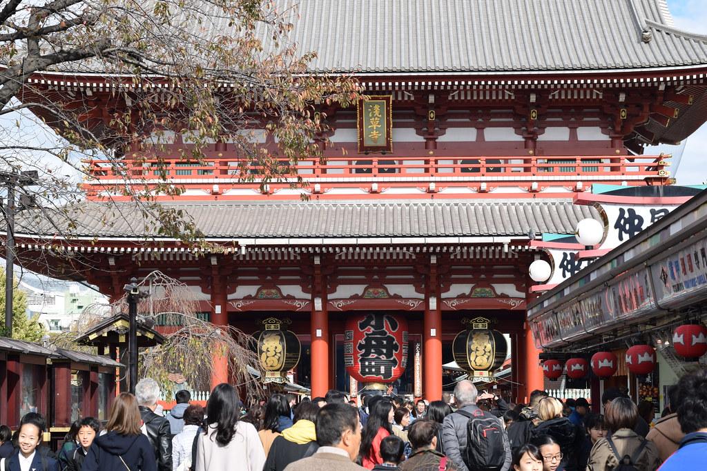 Vista frontal de Senso-ji