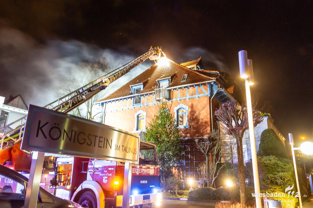 Dachstuhlvollbrand in Königstein 07.03.19
