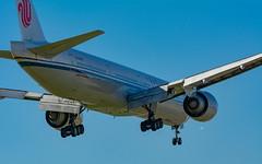 Air China Boeing 777-300ER lands at LAX