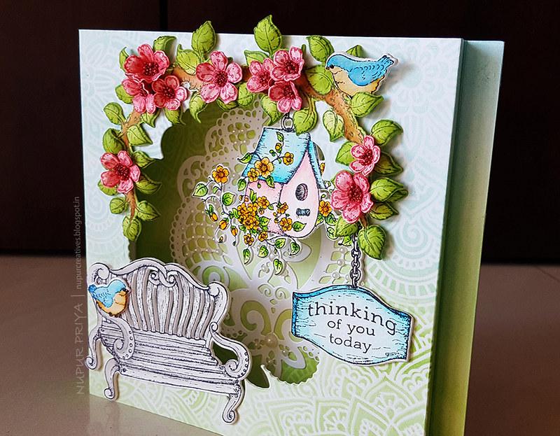 Cherry Blossom Box Card 2_Nupur Creatives