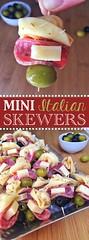 Easy Mini Italian Appetizer Skewers