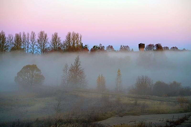 Mysterious fog, Mozhaysk, Russia