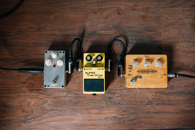 Photo:Guitar pedal effects on the floor By marcoverch