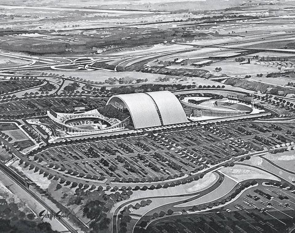 Original design concept art for Truman Sports Complex in Jackson County, Missouri.