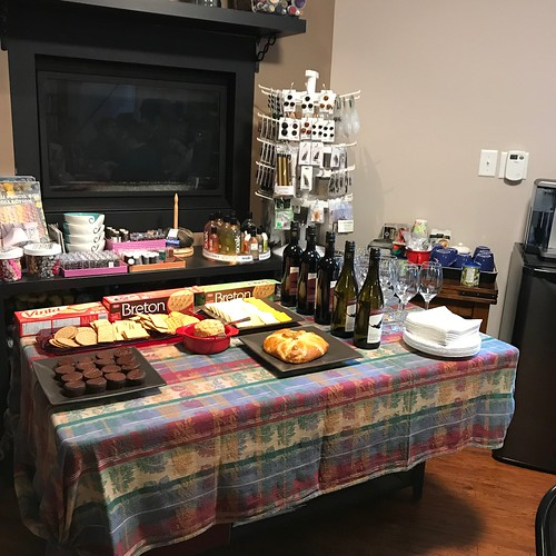 Last Saturday night was our Berroco Yarn Tasting! 5 taster 20g cakes of their new yarns, wine, cheese and a scarf pattern!