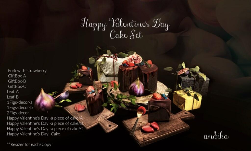 New release[andika/Happy Valentine's Day cake Set]