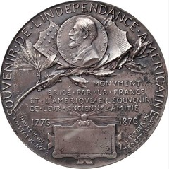 Roty Franco-American Union Auguste Bartholdi Medal Reverse