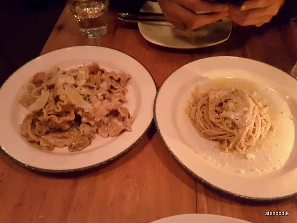 Mafalde ai Funghi, Spaghetti Cacio e Pepe