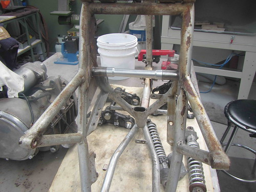 19th Sept MN 500 swingarm modifications 1 | by redax5