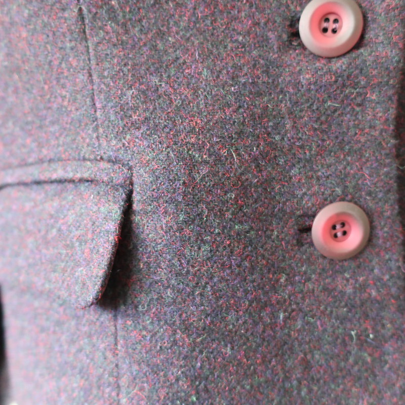 wool blazer pocket and buttons