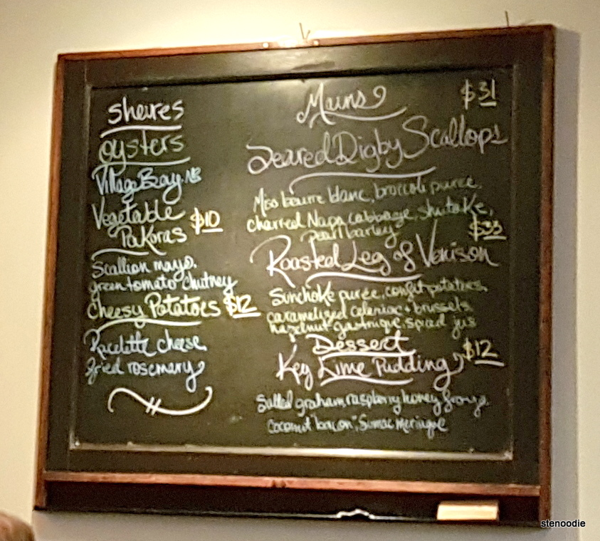 Richmond Station chalkboard menu