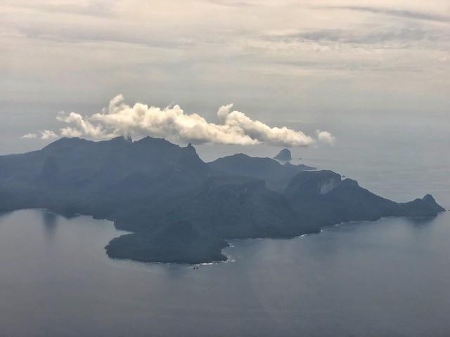 La isla de Príncipe desde la ventanilla del avión