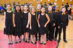 Kids At The Ballroom Dance Competition