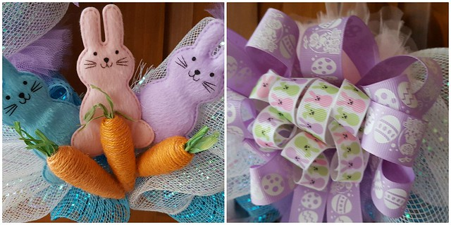 Deco Mesh Easter Wreath 4