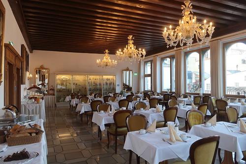 Frühstück im Adalbert-Stifter-Saal im Hotel Wilder Mann in Passau