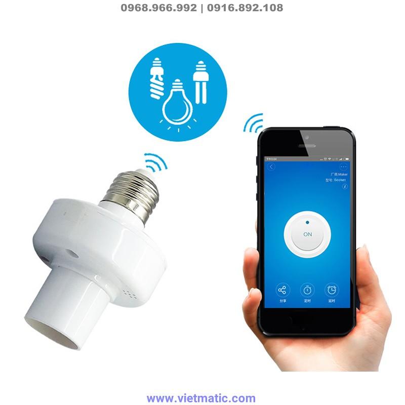 Đuôi đèn  SONOFF® E27 biến bóng đèn thường thành đèn thông minh, kết nối Wifi 1