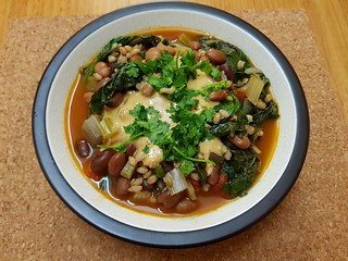 Black-Eyed Pea & Collard Stew with Spicy Tahini