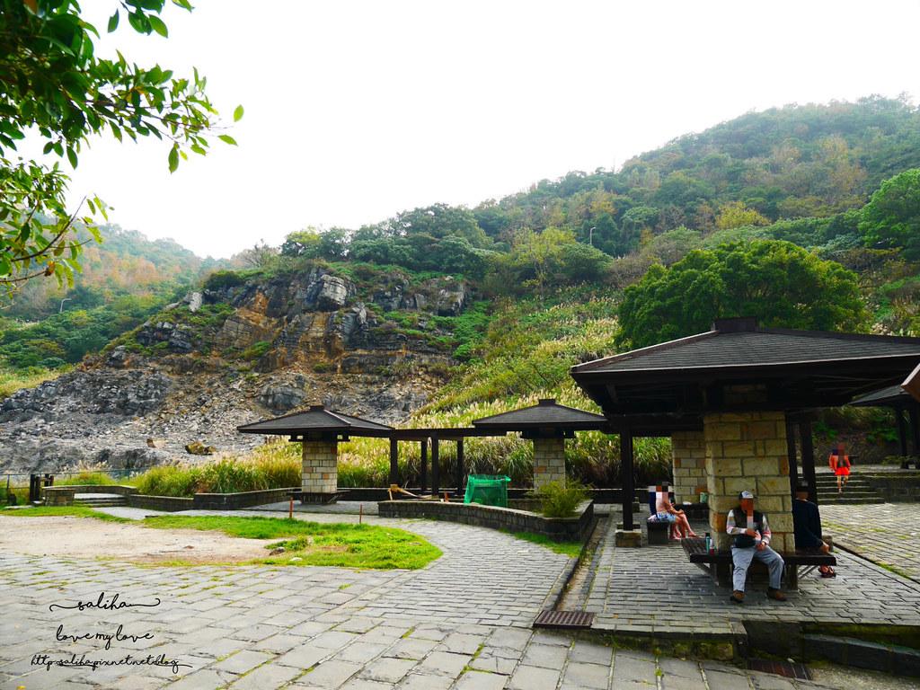 台北陽明山一日遊景點推薦硫磺谷龍鳳谷公園免費泡湯溫泉泡腳池 (1)