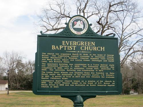 Evergreen Baptist Church Marker Evergreen AL