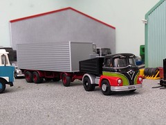 quicksilver coaches posted a photo:	For a cheap and simple model, Corgi's Trackside Foden S21 'Mickey Mouse' is actually a really good casting, much better than Langley's effort. This one had been a recovery vehicle in the Quicksilver fleet 15 or more years ago but was withdrawn from service and spent a long time in storage. With a generator replacing the crane, some more authentic EFE wheels and a full strip and repaint it has now joined the Woodwards fairground fleet as a former British Railways ballast tractor.