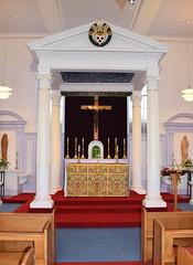 baldacchino and altar