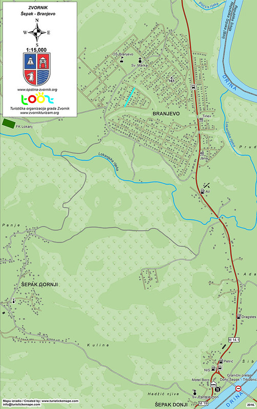 Карта поселков Шепак и Бранево