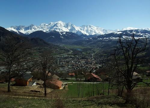 Haute-Savoie (74) Le Mont Blanc et Sallanches Vue générale 22-03-19a