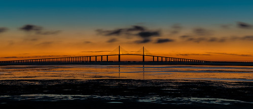 sunrise bridge water landscape florida tampabay sunshineskyway sun sunset stpetersburg skyway sunshine tampa fl flavor fortdespot park