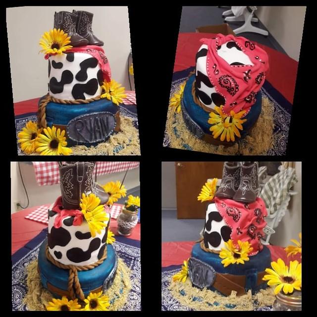 Cowboy Theme Baby Shower Cake by Amanda Dixon Rich