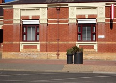 Kerang. The Post Office built in 1886 in a simple Italianate style but with stunning plaster detailing above windows. Architect was George Wilson.