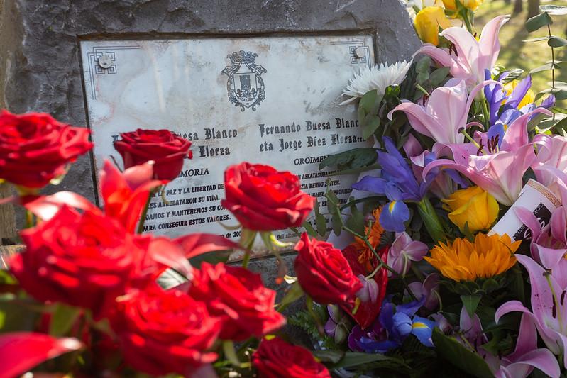 XIX aniversario del asesinato de Fernando Buesa y Jorge Díez