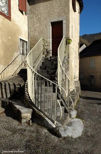 Escalier à Sarrance (64)