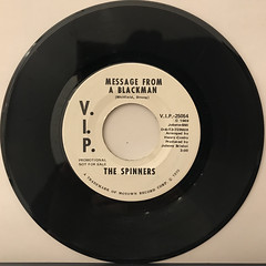 THE SPINNERS:MESSAGE FROM A BLACKMAN(RECORD SIDE-B)