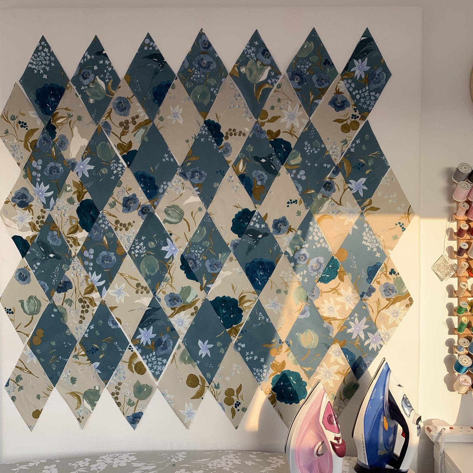 Nani Iro Fuccra Rakuen Cotton Sateen Diamond Quilt