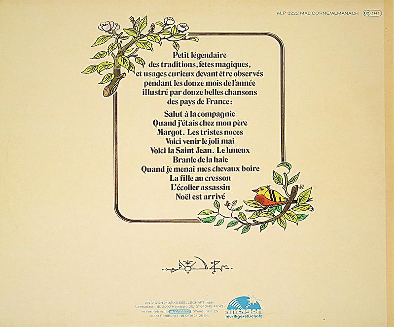 "MALICORNE ALMANACH 12"" VINYL LP"