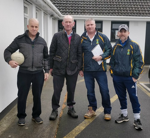 The Hardy Boys        John Browne sr, with Tim Gorman, Noel Winder and Christy Browne at the Vinnie GoFundMe Event at BME GAA Grounds. Photo R B O'Donoghue