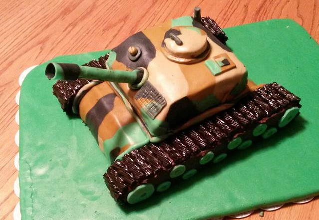 Tank Cake by Courteau Cakes and Cookies