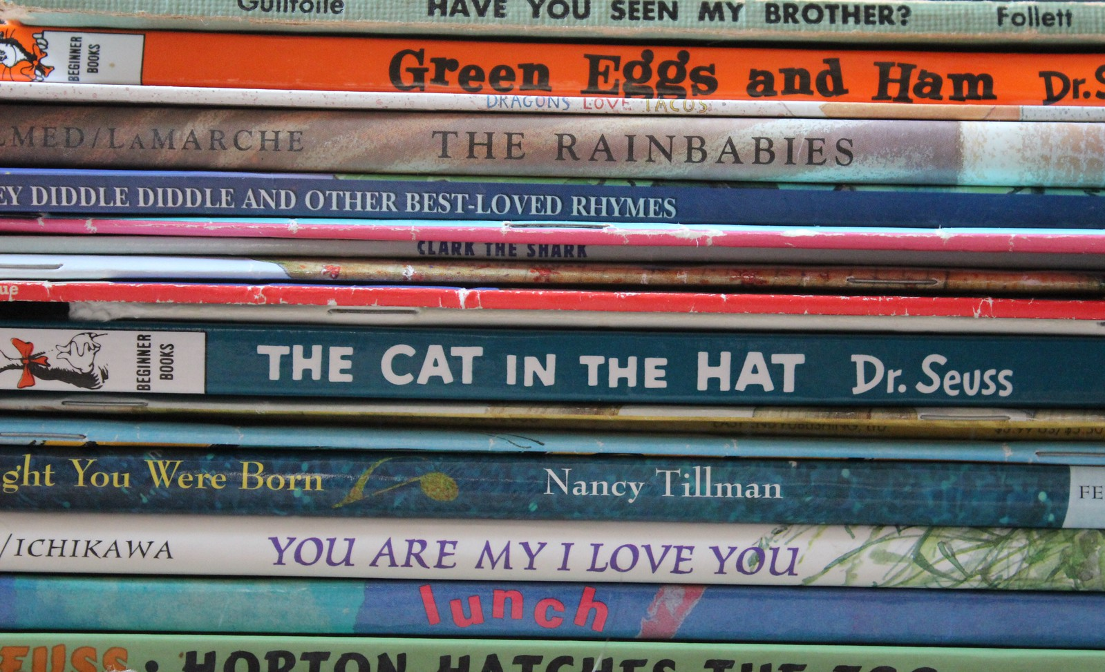 Children's book stack