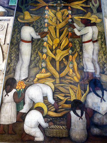 One of Diego Rivera's murals in the Secretaría de Educación Pública in Mexico City