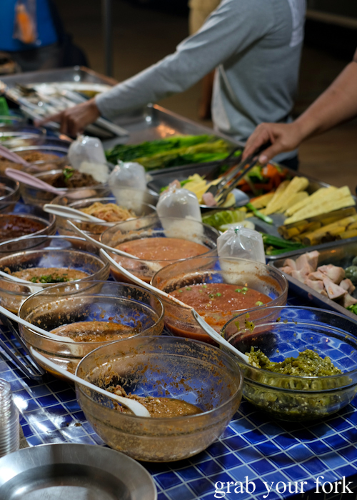 Nam chim dipping sauces at Build Market in Khao Lak,Thailand
