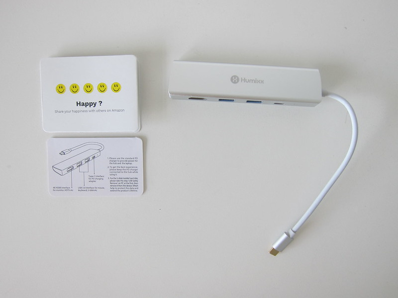 Humixx 4-in-1 USB-C Hub - Box Contents