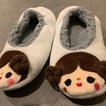 In the Target checkout line, I found an abandoned pair of slippers. I've been looking for some house shoes for the new house, and they were my size. I feel like it was meant to be, so here they are - my new Princess Leia Tsum Tsum slippers! 😂 by bartl