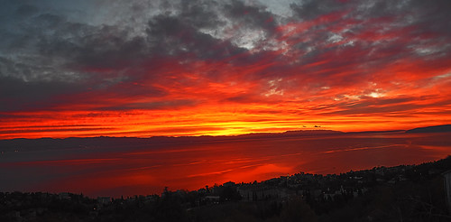 hrvatskacroatia istra istria kvarner lovran outdoors sunrise morning red sky sea