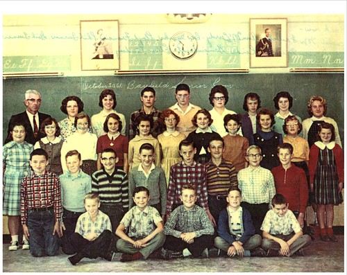 PB17 24A Photo of classmates Sr. room 1961 Mr. W. Fralick