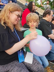 Tying A Balloon At The Sheryl Crow Concert